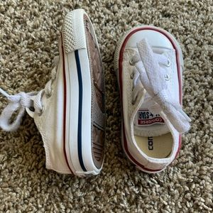 Low Top White Converse - Like New!